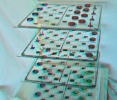 3D Checkers for 3 Person - use 3D red/cyan glasses
