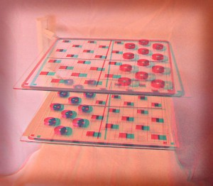 Expanded Checkers or 3D Checkers (in 3D)